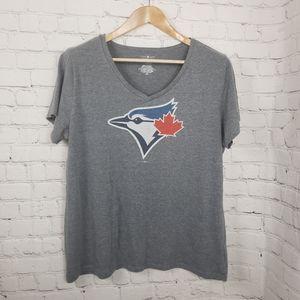 Toronto Blue Jays Logo Tee V-Neck Womens T-shirt